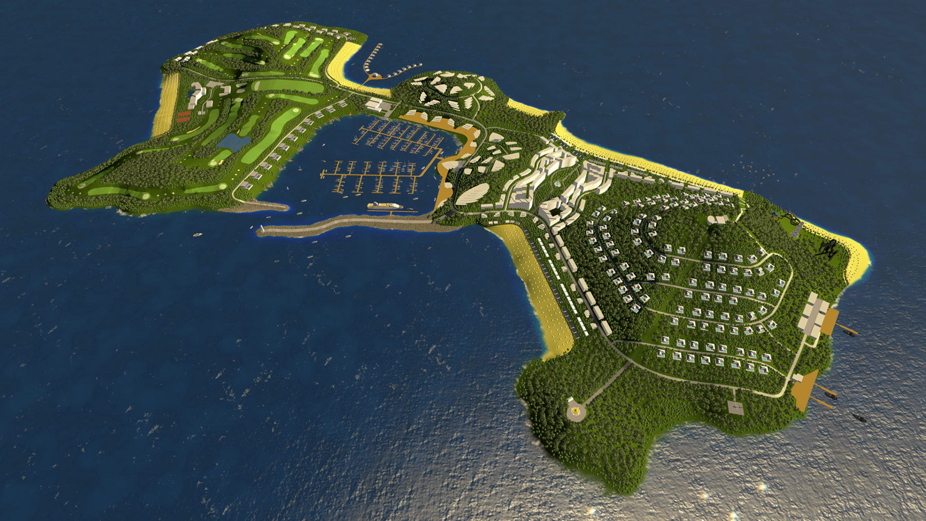 Master Plan of Pulo Besin Island, Myanmar