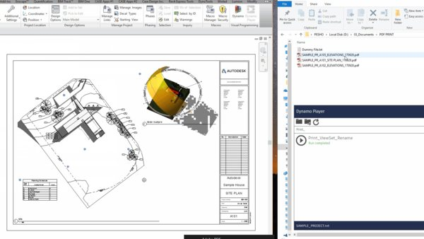 Revit batch print and rename files with Dynamo