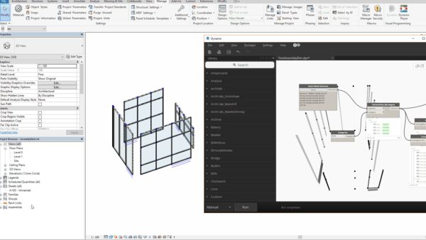 Automating curtain wall drawings and specifiacation with Dynamo