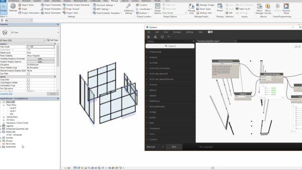 Автоматично създаване на спецификации за Curtain Wall чрез Dynamo