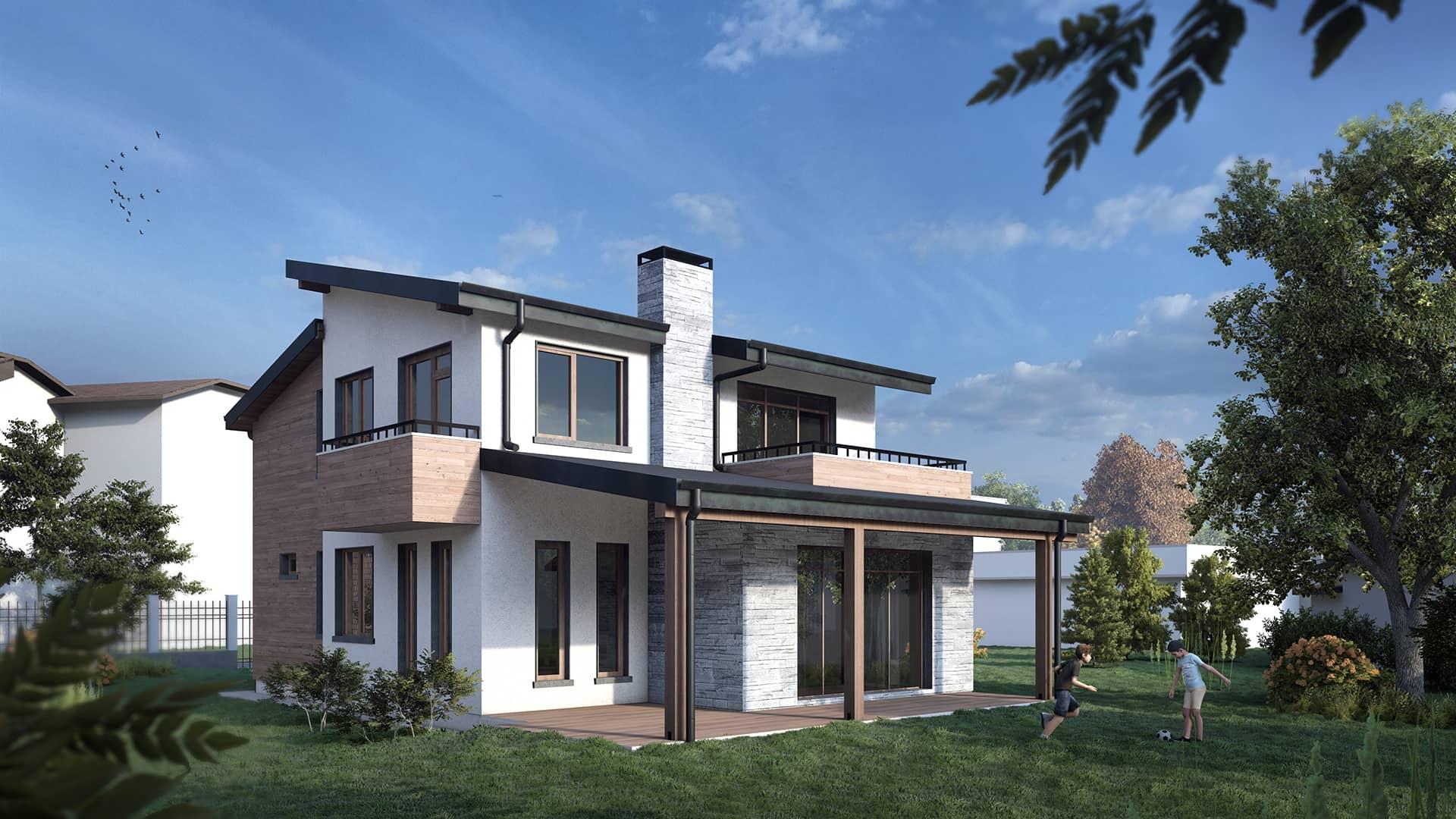 Еднофамилна Къща   BIM Проект
