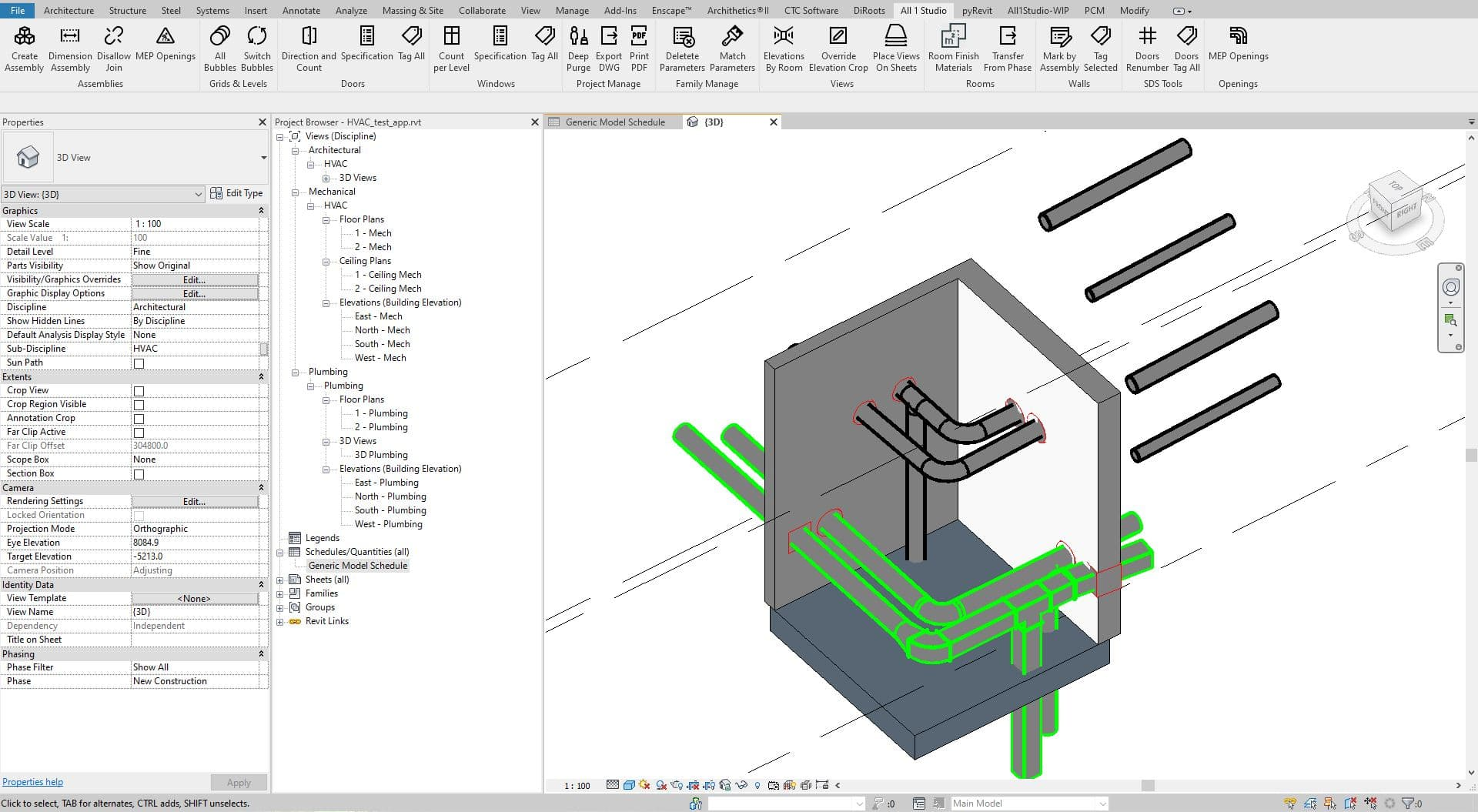 Revit Automatic MEP Opening Families Placement
