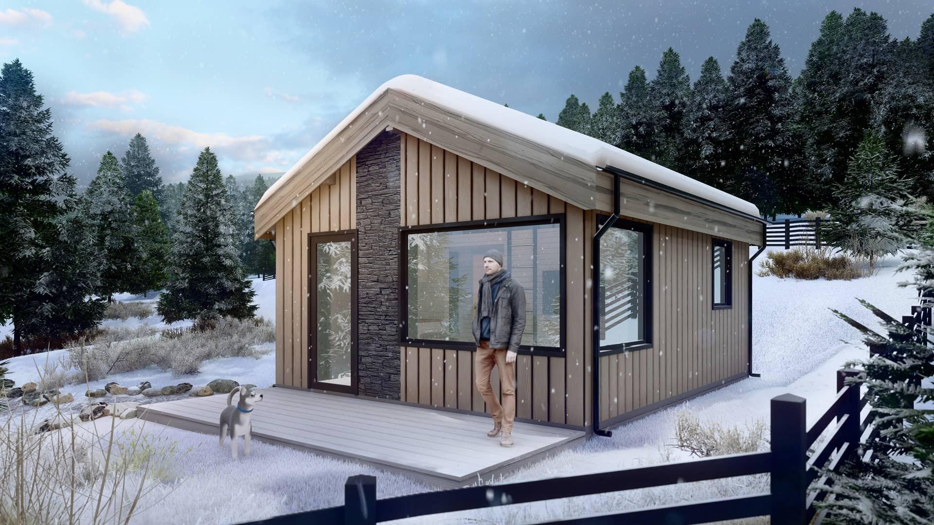 Дървена къща | Ski House 30