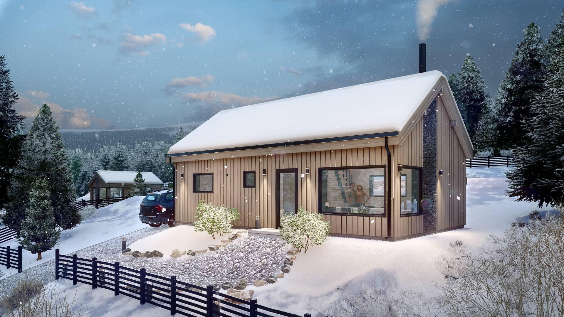 Дървена къща | Ski House 70