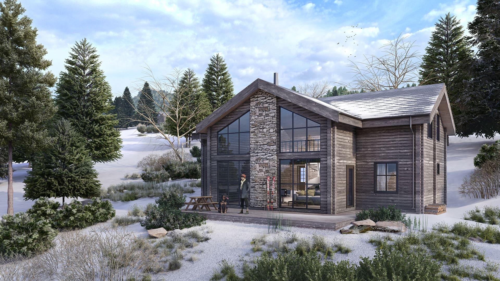 Traditional Log House | Clackvillan 43-223